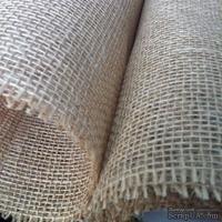 Мешковина, цвет коричневый, расстояние между нитками 2х3мм,  50х50 см
