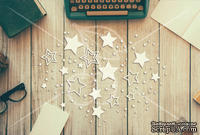 "Чипборд  от ТМ ""Черешня"" - Down Street, дизайн: Ирина Музалевская - Звезды, 18х12 см"