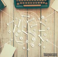 "Чипборд от TM ""Черешня"" - Down street, дизайн: Ирина Музалевская - Гвозди, 10х12 см"