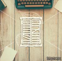 "Чипборд от TM ""Черешня"" - Down street, дизайн: Ирина Музалевская - Окно, 10х12 см"