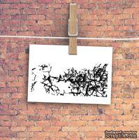 """Штамп резиновый от TM """"Черешня"""" - Down street, дизайн: Ирина Музалевская - Рисунок кракле, 6,5х5 см"""