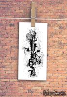 """Штамп резиновый от TM """"Черешня"""" - Down street, дизайн: Ирина Музалевская - фоновый коллаж точки, 6,7х3 см"""