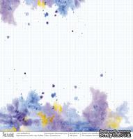 """Лист односторонней скрапбумаги - Туманность """"Млечный путь"""", размер 30,5х30,5 см, плотность 190 гр\м2"""