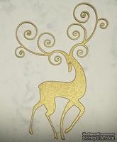Высечки от Gallery Tools - Олень с завитками, золотой, 7,3х11,4 см