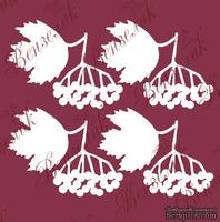 Чипборд от Вензелик - Набор гроздья калины, размер: 37x49 мм