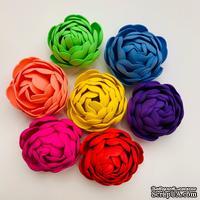 Пион, цветок ручной работы из фоамирана,  диаметр 4,5-5 см, цвет на выбор, 1 шт.