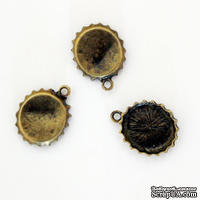 "Металлическое украшение ""Крышка"", 15х3 мм, 1 шт."