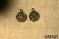 """Металлическое украшение """"Медальон - Маленькая принцесса"""", 15 мм, 1 шт."""