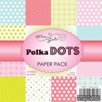 Набор односторонней бумаги от Wild Rose Studio - Польские горошки  - 15х15 см