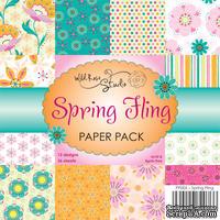 Набор односторонней бумаги от Wild Rose Studio - Весенние  - 15х15 см