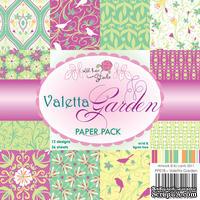 Набор односторонней бумаги от Wild Rose Studio - Сад Валетты  - 15х15 см