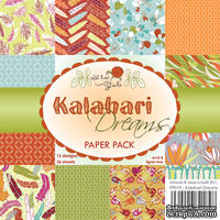 Набор односторонней бумаги от Wild Rose Studio - Калахари  - 15х15 см