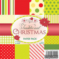 Набор односторонней бумаги от Wild Rose Studio - Рождественские традиции  - 15х15 см