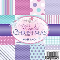 Набор односторонней бумаги от Wild Rose Studio - Зимнее Рождество  - 15х15 см