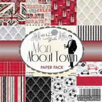 Набор односторонней бумаги от Wild Rose Studio - Мен  - 15х15 см