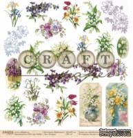 """Лист скрапбумаги - 8 марта """"Первоцветы""""*Обложка* от Craft Paper, 30x30см"""