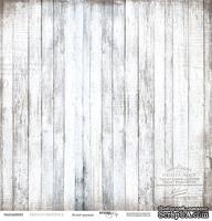 Лист бумаги от Scrapmir - Белый граундж - French Provence, 30х30 см