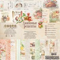 """Набор бумаги 20х20 """"Любимые рецепты"""" от Craft Paper, 20x20см"""