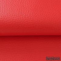 Экокожа, цвет - красный, толщина 0.6 мм, 50Х70 см