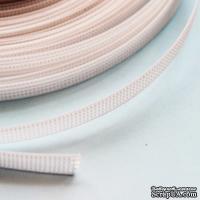 Белый регилин, ширина 6 мм, 50 см