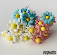 Ромашки мелкие, цвет на выбор, диаметр 10 мм, 5 шт.