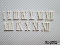 Набор гибких пластиковых фигурок - Римские цифры I-XII, высота 2 см, 12 шт.