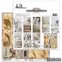 "Набор бумаги от ABstudio - ""Rustical journey""- scrapbooking paper set 8x 30х30см + bonus"