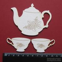 Чипборд от Вензелик - Винтажный чайный набор, размер чипборда: 70*90, 30*51 мм