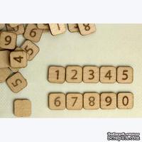 Скрэббл-фишки Бумага-Марака. Цифры. Набор, 10 шт.