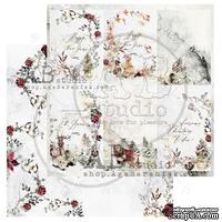 "Лист скрапбумаги от ABstudio - Scrapbooking paper ""Breeze of the forest""- sheet 2 - 30х30см"