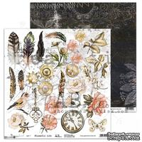 "Лист скрапбумаги от ABstudio - Scrapbooking Paper ""Dreamland""- Flowerful Life-3/4"