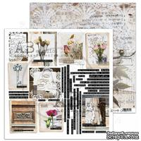 "Лист скрапбумаги от ABstudio - Scrapbooking paper ""Rustical journey"" sheet 6- Fell it - 30х30см"