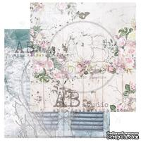 "Лист скрапбумаги от ABstudio - Scrapbooking paper ""Shabby love symphony""- sheet 1 - 30х30см"