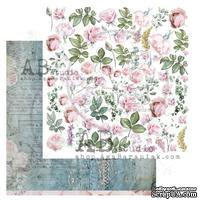 "Лист скрапбумаги от ABstudio - Scrapbooking paper ""Shabby love symphony""- sheet 4 - 30х30см"