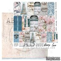 "Лист скрапбумаги от ABstudio - Scrapbooking paper ""Shabby love symphony""- sheet 6 - 30х30см"