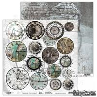 "Лист скрапбумаги от ABstudio - Scrapbooking paper ""Take me there"" 9/10 - Mist / Remember the moment - 30х30см"