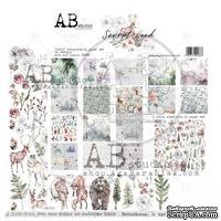 "Набор бумаги от ABstudio - ""Secret wood""- scrapbooking paper set 8x 30х30см + bonus"