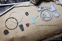 Набор ножей для вырубки от Scrapfriend - Кофе, 6 штук