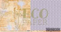 """Лист двусторонней бумаги для скрапбукинга от EcoPaper - """"Старые письма"""" из коллекции """"Тайны леса""""."""