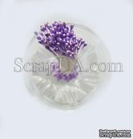Перламутровые тычинки, цвет фиолетовый светлый, 25 веточек (50 тычинок)