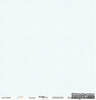 Лист односторонней бумаги от Scrapmir - Baby Boy - КЛЕТОЧКА, размер 30х30 см, 1 шт.