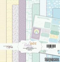 Набор односторонней бумаги от Scrapmir - Baby Boy, 20х20 см, 10 листов - ScrapUA.com
