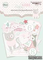 Набор высечек для скрапбукинга от Scrapmir - Baby Girl, 68 шт.