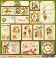 Лист односторонней бумаги для скрапбукинга 30x30 Открытки, коллекция Scrapmir - Christmas Night