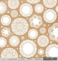 Лист односторонней бумаги для скрапбукинга 30x30 Кружева, коллекция Scrapmir - Rustic Winter