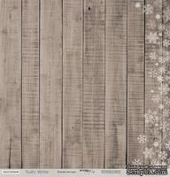 Лист односторонней бумаги для скрапбукинга 30x30 Зимняя текстура, коллекция Scrapmir - Rustic Winter