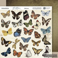 Лист двусторонней бумаги 20х20см Бабочки Some days от Scrapmir