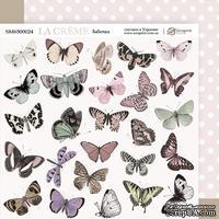 Лист двусторонней бумаги 20х20см Бабочки La Creme от Scrapmir