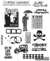 Резиновые штампы от Stampers Anonymous -Tim Holtz, Mini Muse, 12 шт