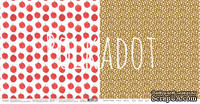 """Лист двусторонней бумаги для скрапбукинга от Polkadot - """"Наливные яблочки"""" из коллекции """"Лето на даче"""""""